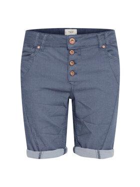 PULZ Jeans - Pulz Jeans Shorts Rosita Blå