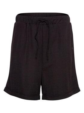 PULZ Jeans - Pulz Jeans Shorts Sort