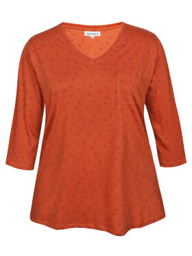 Zhenzi - Zhenzi T-Shirt 3/4 Orange