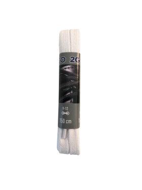 2GO - 2GO snørebånd 4015 hvid 150 cm